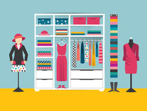 Clothing store. Boutique indoor. Flat design vector illustration. Stock Photo