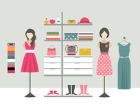 Clothing store. Boutique indoor. Stock Images