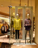 Clothing store and fashion shop window Royalty Free Stock Image