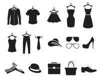 Clothing Store Icons Stock Photography