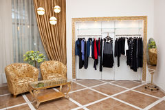 Clothing store interior Stock Photo