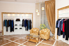Clothing store interior Royalty Free Stock Images