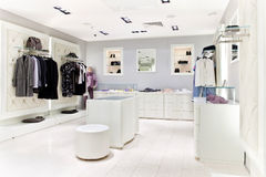 Clothing store interior Stock Image