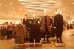 Shenzhen, China: clothing store interior landscape, newly listed clothing Royalty Free Stock Photography