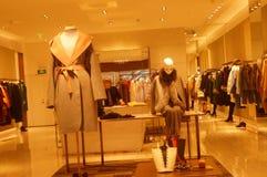 Shenzhen, China: clothing store interior landscape, newly listed clothing Stock Images