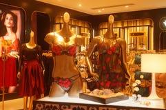 Shenzhen, China: clothing store interior landscape, newly listed clothing Royalty Free Stock Photos