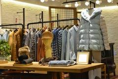 Clothing store. Interior view of a fashion shop,Hongkong,China,Asia Royalty Free Stock Photos