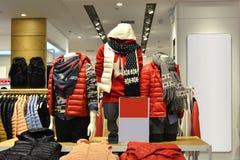 Clothing store,clothing store,clothes store,fashion shop. Interior view of a fashion shop,Hongkong,China,Asia Stock Image