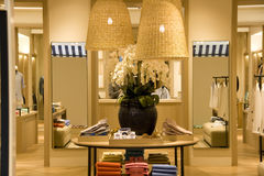 Clothing store lighting royalty free stock photo