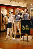 Clothing store open Stock Photography