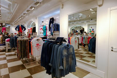 Clothing store in Rome Royalty Free Stock Photos