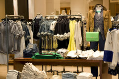 Clothing store. A store selling casual clothing in a mall Stock Photo