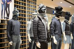 Clothing store in Shanghai Stock Images
