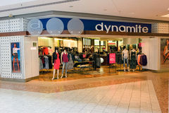 A clothing store in a shopping mall Royalty Free Stock Photo