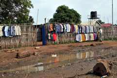 Clothing store in South Sudan Royalty Free Stock Images