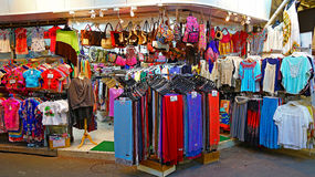 Clothing store at stanley market, hong kong Stock Photos