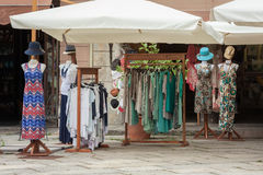 Clothing store in the street Stock Image