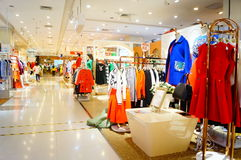 Clothing stores Royalty Free Stock Photography