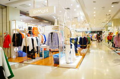 Clothing stores. In Shenzhen Xixiang, China Stock Photos
