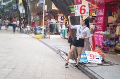 Clothing street Royalty Free Stock Photo
