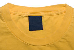 Clothing Tag of Yellow Shirt Royalty Free Stock Images