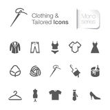 Clothing & tailored related icons Stock Photography
