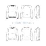Clothing templates set. Royalty Free Stock Photos