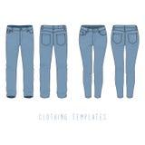Clothing templates set. Stock Image