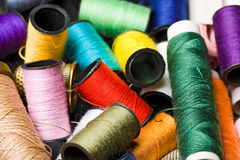 Clothing Thread Spools Royalty Free Stock Photography