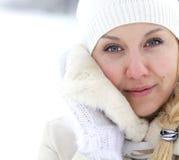clothing varm kvinna Arkivbilder