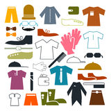 Clothing Vector Icons Set Royalty Free Stock Photography