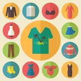 Clothing vector icons set Stock Photo