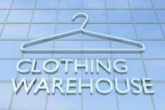 Clothing Warehouse concept Royalty Free Stock Photography