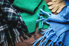 Clothing for winter Royalty Free Stock Images