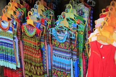 Clothing for women in Sapa town. ` royalty free stock image