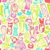 Clothing for women is seamless pattern Stock Images