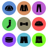 Clothings icon designs Royalty Free Stock Images