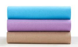 Cloths And Fabrics Arrange On White Royalty Free Stock Photo
