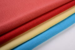 Cloths with different color made by cotton fiber Royalty Free Stock Photography