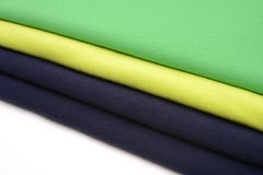 Cloths with different color made by cotton fiber Stock Photo