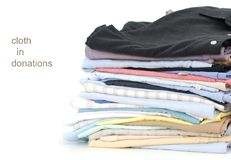 Cloths at donation Royalty Free Stock Photos