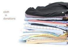 Cloths at donation Royalty Free Stock Photos