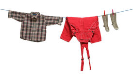 Cloths drawn Royalty Free Stock Image