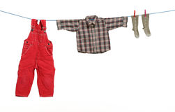 Cloths drawn. On white background stock images