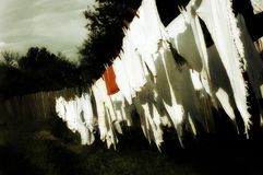 Cloths on a line Royalty Free Stock Photo