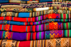 Cloths. On a market in southamerica Stock Photography