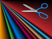Cloths and Scissors (Vector) Royalty Free Stock Image