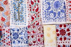 Cloths with suzanne - traditional embroidery art stock image