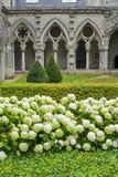 Cloître d'abbaye dans Soissons Photos stock