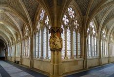 Cloître de la cathédrale de Burgos Images stock